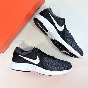 Nike Revolution 4 Black/White/Anthracite Men's 15